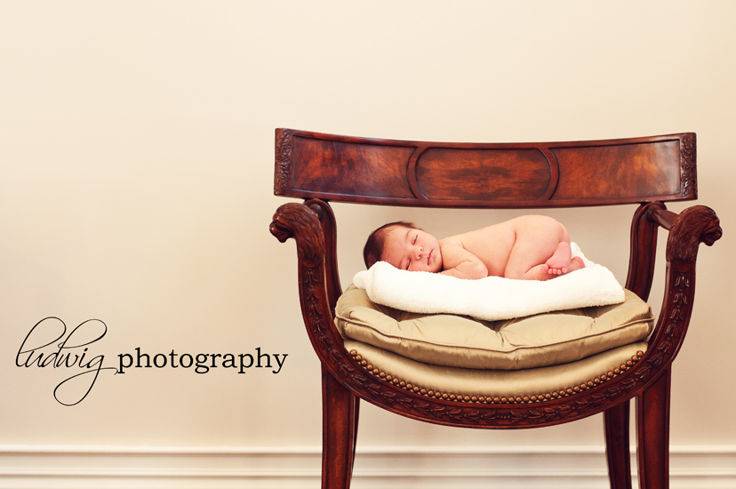 newborn baby portrait  in living room