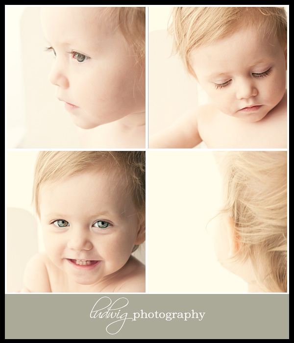 14 month old portrait in studio