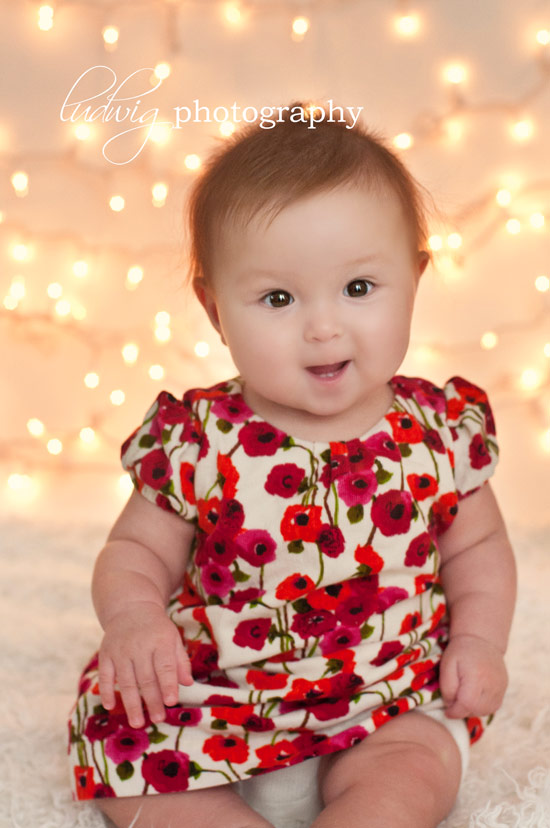 6 month baby girl portrait