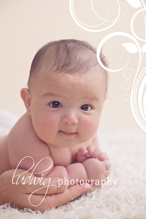 3 month old baby studio portrait of baby k ri baby photography